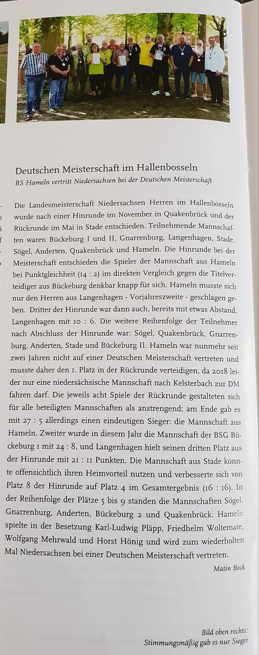 Niedersachsenmeister 2018
